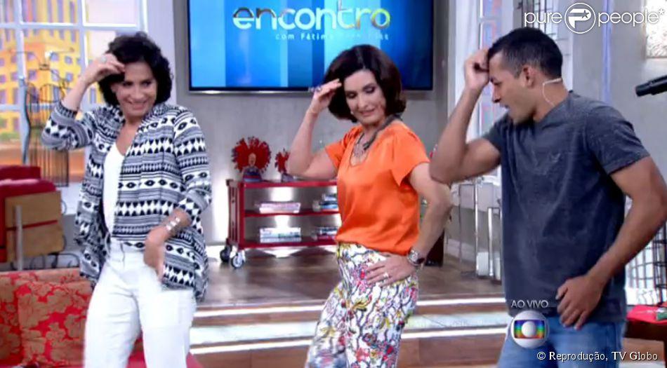 Fátima Bernardes dançou o hit do Carnaval, 'Tem Xenhenhém', durante o 'Encontro com Fátima Bernardes' nesta quarta-feira, 4 de fevereiro de 2015