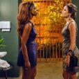 Na novela 'Império', Carmen (Ana Carolina Dias) é rival de Juju Popular (Cris Vianna)