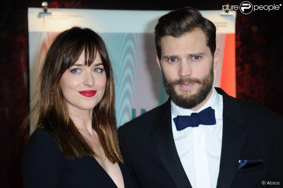 Dakota Johnson e Jamie Dornan divulgam o filme 'Cinquenta Tons de Cinza' no Festival de Berlim, em 11 de fevereiro de 2015