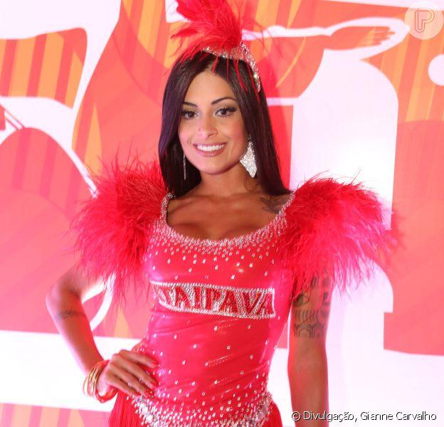 Aline Riscado curte o Carnaval na Sapucaí, mas neste ano não vai desfilar por nenhuma escola de samba