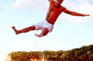 Henri Castelli dá show de salto em praia de Natal, no Rio Grande do Norte