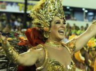 Claudia Raia mostra animação no desfile da Beija-Flor: 'Feliz e emocionada'