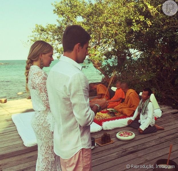 Luma Costa e Leonardo Martins se casam pela segunda vez em uma cerimônia budista na Ásia