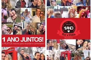 Ticiane Pinheiro comemora 1 ano de namoro com Cesar Tralli: 'Muito amor'