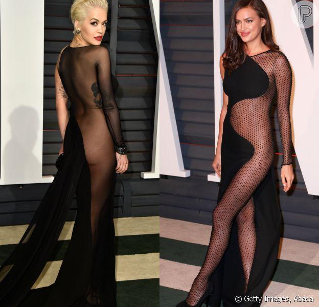 Rita Ora e Irina Shayk foram os destaques da festa da revista Vanity Fair que aconteceu na noite de domingo, 22 de fevereiro de 2015, após a premiação do Oscar