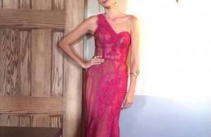 Oscar 2015: Caroline Ribeiro usa 1° vestido de Lethicia Bronsthein na premiação