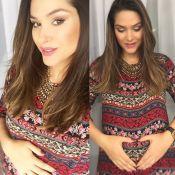 Fernanda Machado ganha 6 kg em 5 meses de gravidez: 'Facilidade pra engordar'