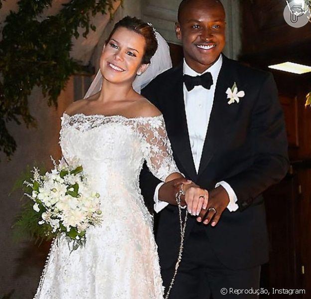 Thiaguinho em relação ao casamento com Fernanda Souza: 'Estou transbordando de alegria'