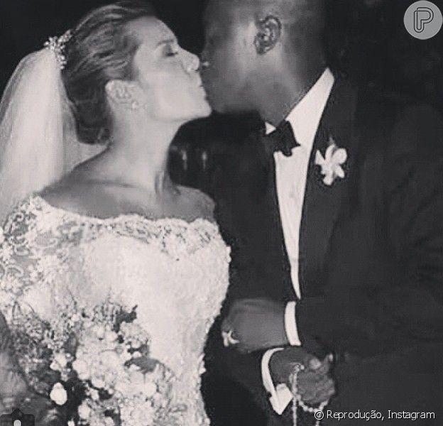 Fernanda Souza celebrou seu casamento com Thiaguinho, através de seu perfil no Instagram: 'Obrigada por ser alguém tão especial...'