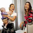 Patricia Abravanel e Eliana conversaram sobre maternidade durante o programa