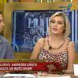 Andressa Urach voltou a ser repórter 'Muito Show', da RedeTV!, mas pediu demissão três dias depois