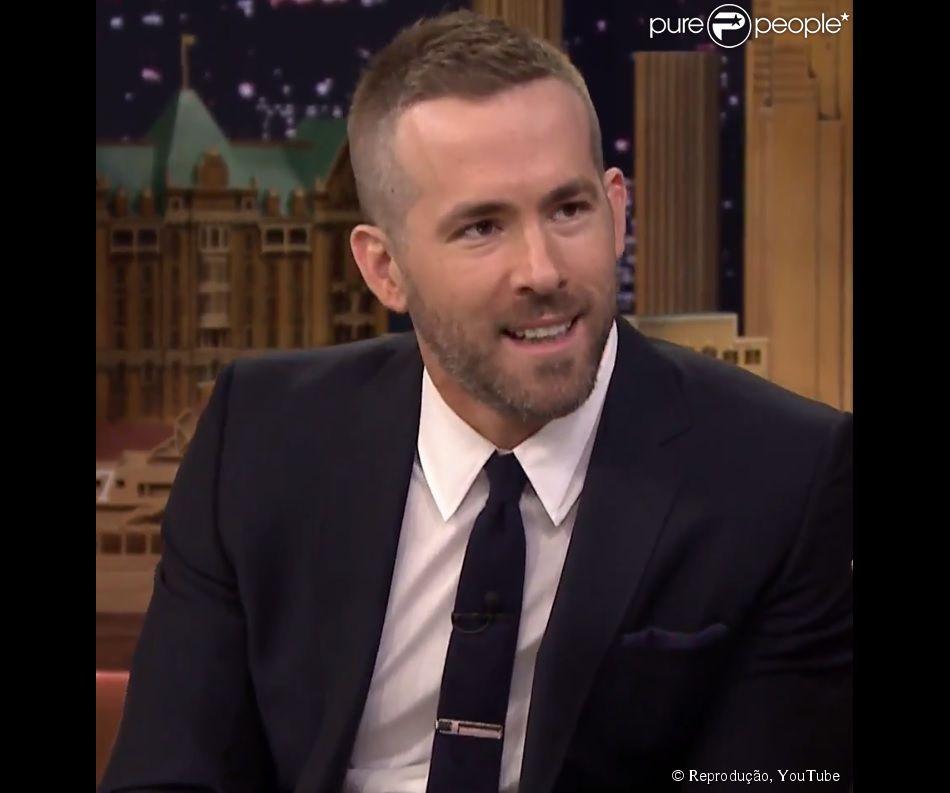O astro Ryan Reynolds falou sobre ser pai de primeira viagem no programa de Jimmy Fallon nesta segunda-feira, 2 de março de 2015