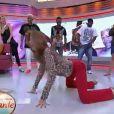 Ticiane Pinheiro dança no chão do 'Programa da Tarde'