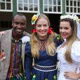 Angélica convidou Thiaguinho e Fernanda Souza em período de festas juninas para se casarem no 'Estrelas'