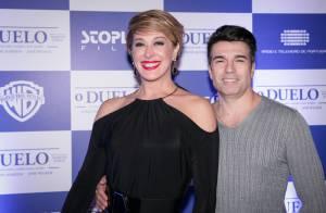 Claudia Raia leva o namorado, Jarbas Homem de Melo, para pré-estreia de filme