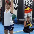 Isabella Santoni e Maria Joana se preparam para lutar
