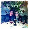 Edson Celulari e Karen Roepke posam em jantar romântico