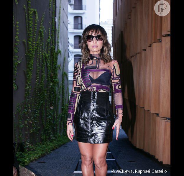Sabrina Sato exibe boa forma em look ousado em lançamento da sua coleção de sapatos de Lilly's Closet, nesta terça-feira, 31 de março de 2015, em São Paulo