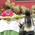 Amanda e Cézar ganharam um almoço especial nesta terça-feira, último dia do 'BBB15'