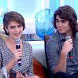 Isabella Santoni e Rafael Vitti são pressionados por Fátima Bernardes para assumir romance no 'Encontro'