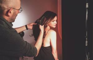 Bruna Marquezine tieta a top Gigi Hadid em bastidor de campanha em Nova York