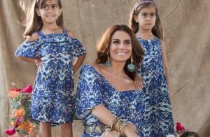 Giovanna Antonelli estrela campanha de moda com as filhas gêmeas. Veja as fotos!