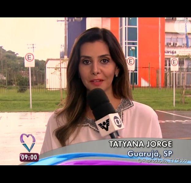 Tatyana Jorge diz que a equipe da TV Tribuna, afiliada da Rede Globo na Baixada Santista, viveu momentos de tensão durante o assalto ao vivo: 'Susto'