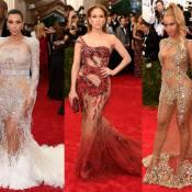 Kim Kardashian, Jennifer Lopez e Beyoncé apostam em transparência no Met Gala