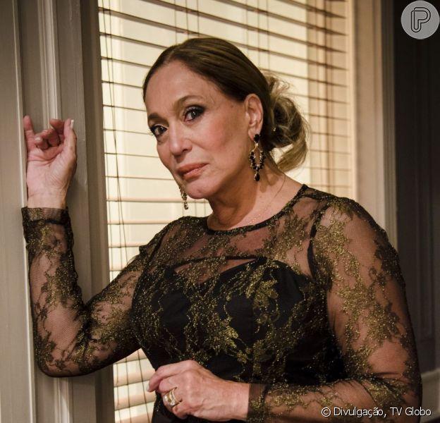 Pilar (Susana Vieira) rejeita o novo namorado de Paloma (Paolla Oliveira) e as duas brigam, em 'Amor à Vida', em 9 de junho de 2013