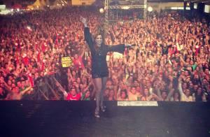 Ivete Sangalo comemora aniversário de 41 anos em show em Minas Gerais