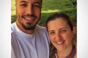 Fernando, do 'BBB15', passa Dia das Mães com Aline e a sogra: 'Mãezona'