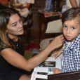 Dira Paes contou que o primogênito Inácio, de 7 anos, está muito feliz em ganhar um irmãozinho