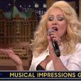 Christina Aguilera já havia imitado a cantora Britney Spears no programa 'The Tonight Show', apresentado por Jimmy Fallon