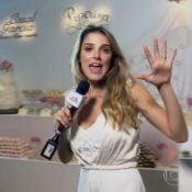 Rafa Brites usa seu vestido de noiva em matéria do 'Mais Você': 'Oportunidade'