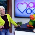 Ana Maria Braga brincou ao voltar ao comando do 'Mais Você', nesta segunda-feira, 8 de junho de 2015: 'Eu não saio mais'