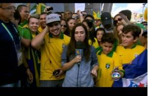 Caio Castro e Tatá Werneck dançam ao som de 'Piradinha' antes do jogo do Brasil