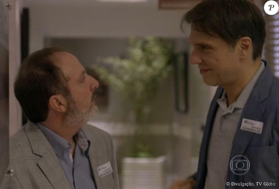 No fim de 'Sete Vidas', Renan (Fernando Eiras) decide assumir a relação com Eriberto (Fábio Herford) após se declarar para ele. Antes, ele se separa de Mariinha (Stella Maria Rodrigues) que, junto com Marta (Gisele Fróes), nem desconfia da relação dos dois