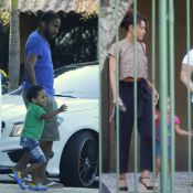 Taís Araújo e Lázaro Ramos recebem ajuda de babá em passeio com os filhos