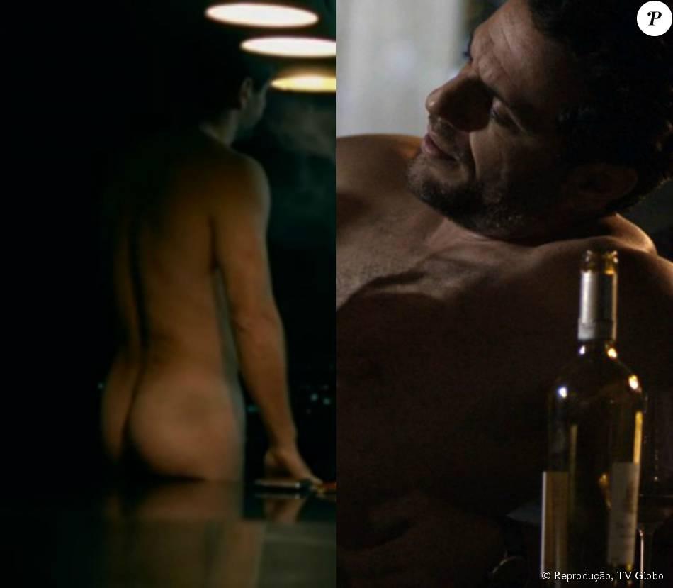 Rodrigo Lombardi apareceu novamente sem roupa e de costas em uma cena da novela 'Verdades Secretas' que foi ao ar na noite de terça-feira, 14 de julho de 2015