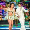 'Domingão do Faustão': a mineira Francielle Pimenta dançou  a música 'É preciso muito amor', cantada por Dudu Nobre, com Marcello Melo Jr.