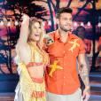 A baiana Lorena Improta dançou com Lucas Lucco  a música 'Você não vale nada', da banda Calcinha Preta