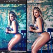Khloé Kardashian mostra antes e depois do uso de Photoshop e afirma: 'Estou bem'