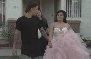 Justin Bieber faz surpresa e leva fã a baile de 15 anos nos Estados Unidos