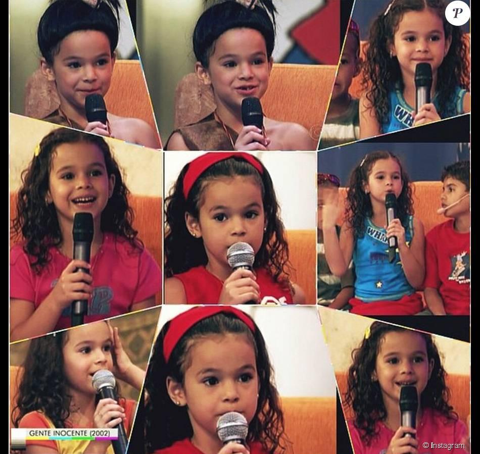 7013c99c756 Bruna Marquezine compartilhou uma montagem que mostra imagens suas durante  gravação do programa  Gente Inocente
