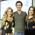Hanna Rommanazzini, Gabriel Falcão e Bianca Salgueiro posam durante a coletiva de 'Malhação 2013'