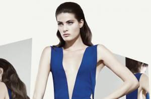 Isabeli Fontana posa com decote para nova coleção de marca de roupas