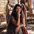 A atriz Samara Felippo interpreta a sofrida Diná na minissérie bíblica 'José', da TV Record