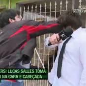 Lucas Salles, do 'CQC', comenta agressão sofrida na TV: 'Fiz bem o meu trabalho'