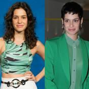 Maria Flor muda visual e aparece com os cabelos curtinhos em pré-estreia no Rio