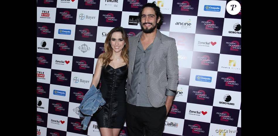 Tatá Werneck e Renato Góes vão juntos à pré-estreia de 'O Pequeno Dicionário Amoroso 2', na nesta terça-feira, 08 de setembro de 2015